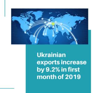 Ukraine exported goods worth USD 4.1 billion in January 2019