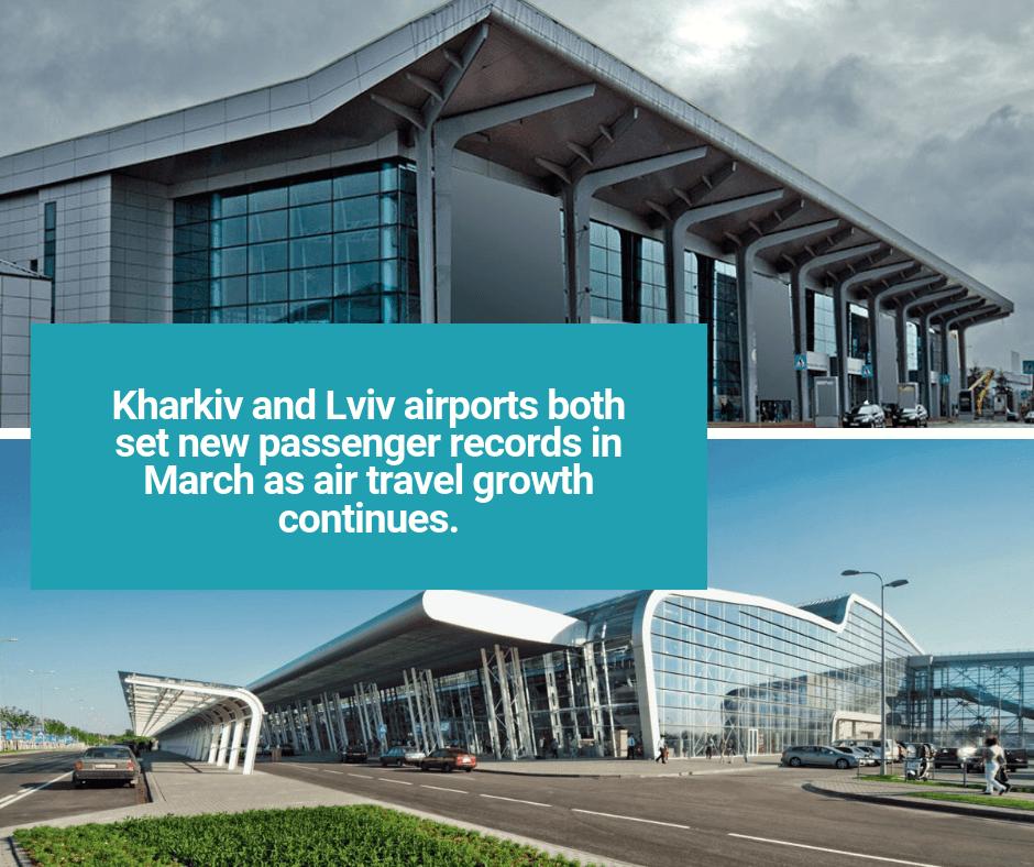 Kharkiv and Lviv airports set new passenger records