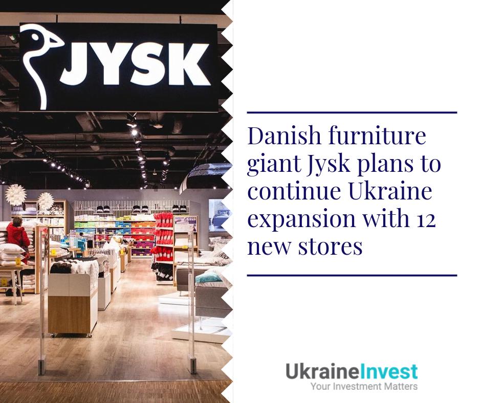 Jysk plans to open 12 new stores in Ukraine