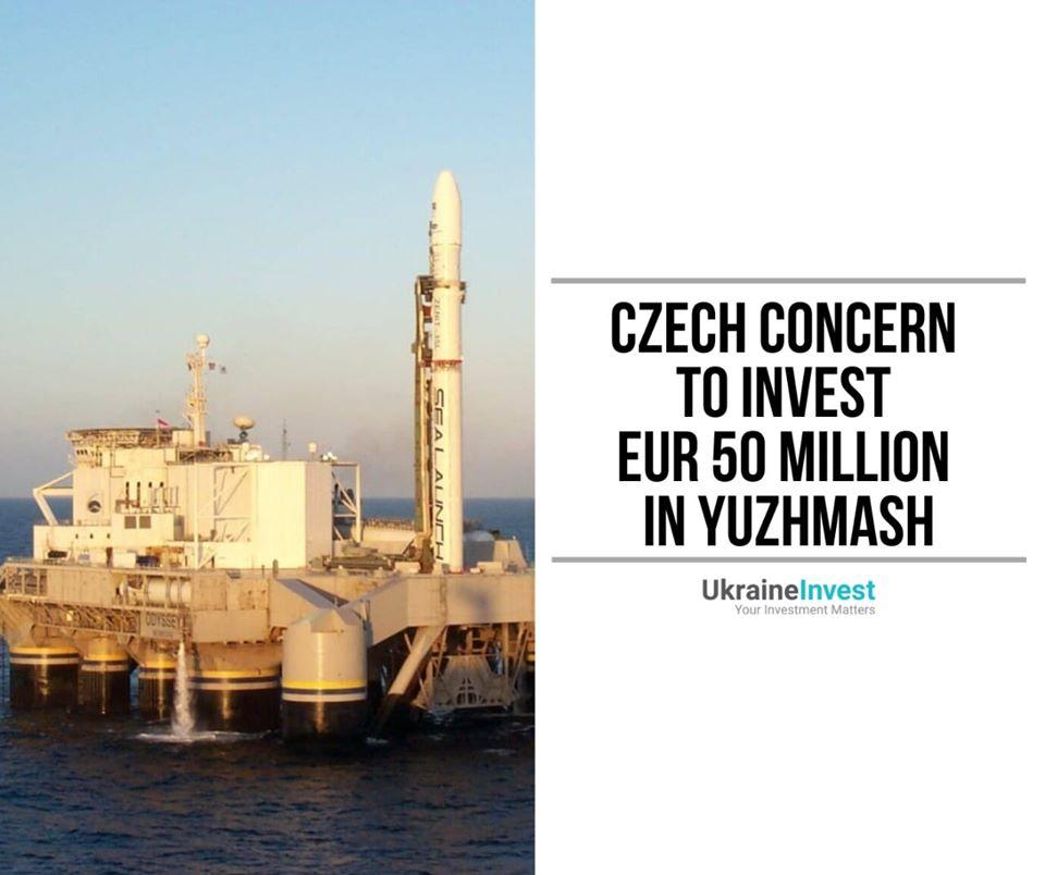 Czech concern plans to invest EUR 50m in Ukrainian Yuzhmash 1
