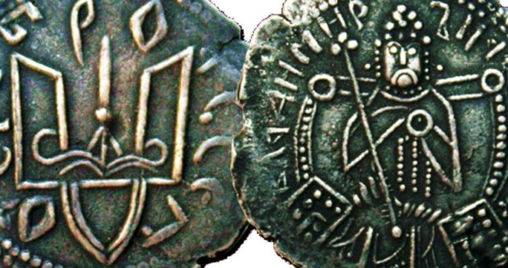 Історія гривні. Перші гривні зображували князів в українському стилі – вони були вусаті 1